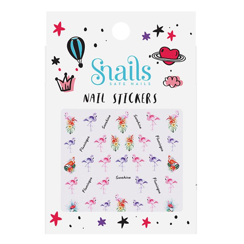 Nail Stickers - Flamingos