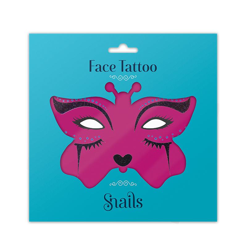 Face Tatto - Midnight Cat